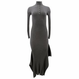Stella McCartney Ribbed Grey Dress