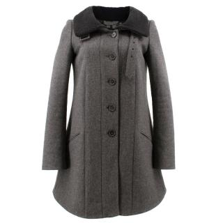 Proenza Schouler Grey Single Breasted Coat