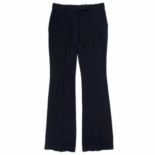 Alexander McQueen Black Flare Trousers