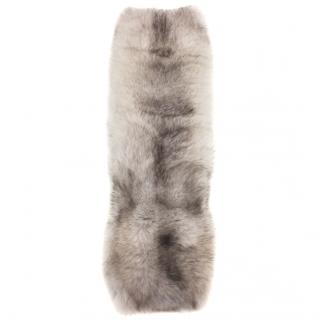 Bespoke white fox fur scarf