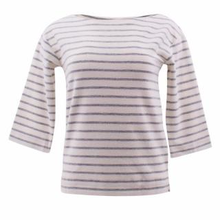 By Malene Birger Tirans Striped Cotton-Terry Top