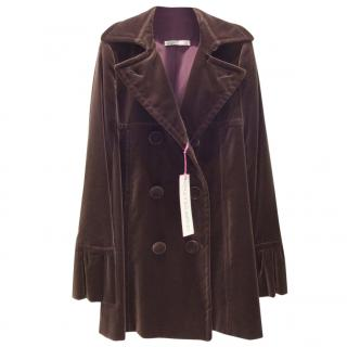 Ungaro Mink/Chocolate Velvet Coat