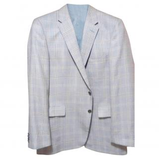 Gives&Hawkes Single Breasted Grey wool/silk blend Jacket