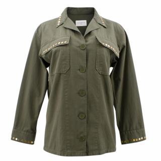 Sandro Oversized Jacket With Gold-Tone Rivets