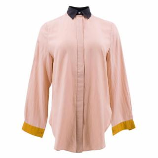 By Malene Birger Colorblock Pink Top