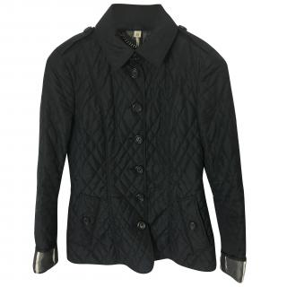 Burberry Black Quilted Jacket.