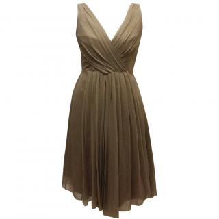 Elie Tahari golden cocktail dress