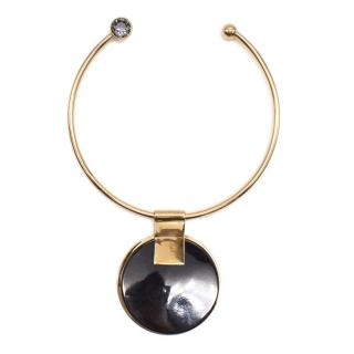 By Malene Birger Metallic Goldplated Resin Necklace