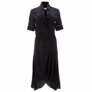 Ganni Harley Crepe Wrap Dress