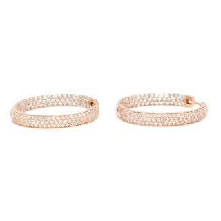 Sif Jacobs Catania Pave Loop Earrings