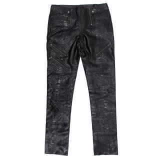Emilio Pucci Glossy Python Skinny Trousers