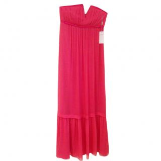 Philosophy di Alberta Ferretti Pink Silk Maxi Dress