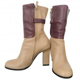 JIL SANDER Two Tone Ankle Boots