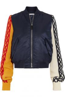 JW Anderson Cable-Knit Wool and Shell Bomber Jacket
