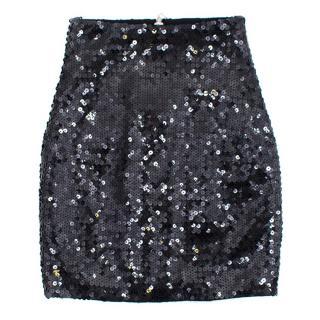 Balmain Black Sequinned Mini Skirt
