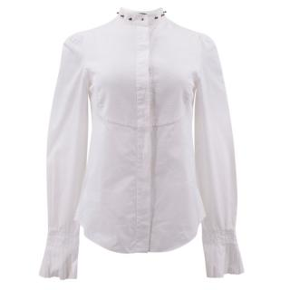 Alexander Mcqueen Bib Front Shirt with Studded Collar