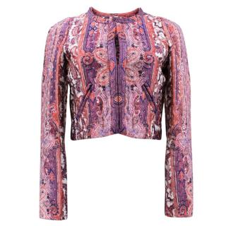 Isabel Marant Gamble Printed Satin Bomber Jacket