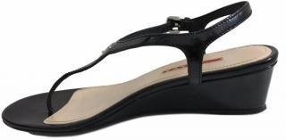 Prada Black Patent Leather Flip Flop Sandals.