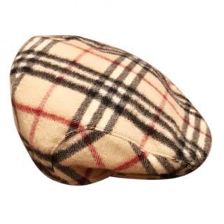 Burberry cashmere newsboy cap hat nova check