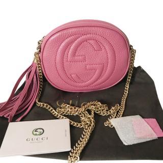 GUCCI Pink Soho Disco Bag