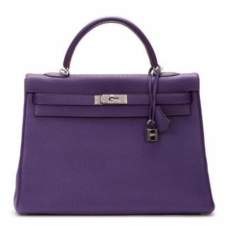 Hermes Iris Togo Leather Kelly 35cm Retourne