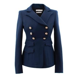Altuzarra Navy Military Style Jacket