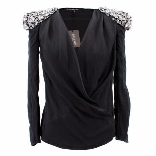 Balmain Silk Embellished Blouse