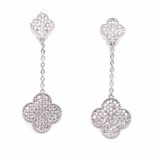 Bespoke White Gold/Diamond Clover Earrings