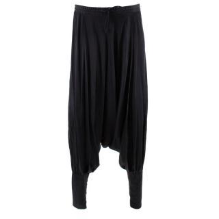 Balmain Silk Satin Harem Pants