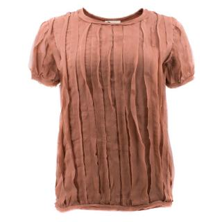 Lanvin Antique Pink Frayed Blouse