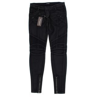Balmain Washed Biker Jeans