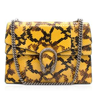 Gucci Dionysus  Yellow Python Shoulder Bag  - Brand new