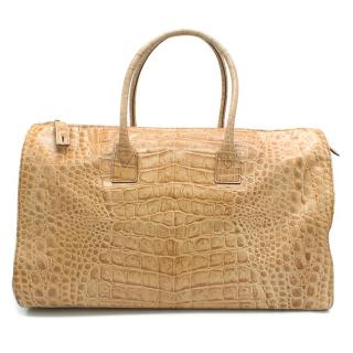 Gianfranco Ferre Crocodile Print 24h Bag