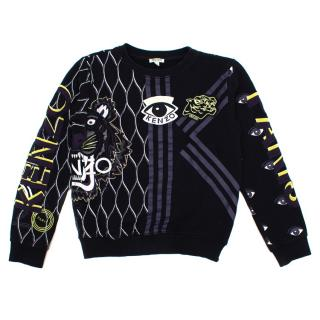 Kenzo Black Multi-Icon Sweatshirt