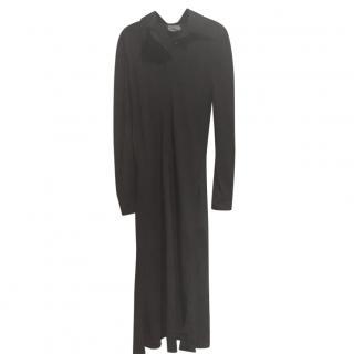 Halston Silk Black Shirt Dress