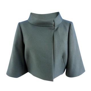 Alberta Ferretti Wool and Cashmere Blend Box Jacket