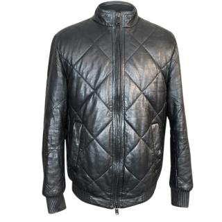 Hugo Boss Leather Quilted Jacket