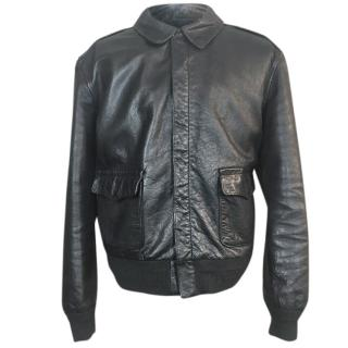 Polo Ralph Lauren Leather A2 Flight Bomber Jacket