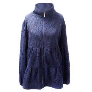 Carolina Herrera Lace Overlay Jacket