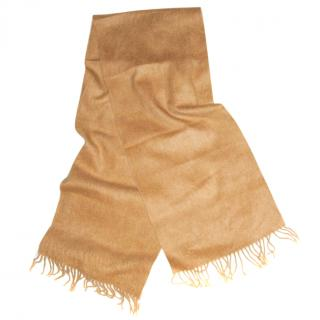 BRORA camel pure cashmere scarf