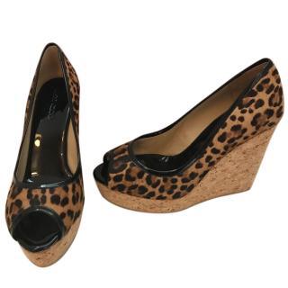 Jimmy Choo Papina Leopard Wedges