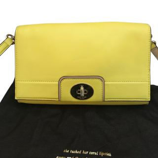 Kate Spade yellow leather bag