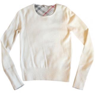 Burberry cream cashmere  jumper