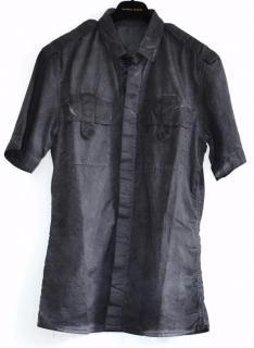 Bottega Veneta runway black cotton shirt