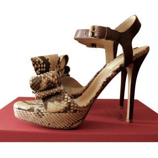 Valentino Snakeskin D'orsay Heels