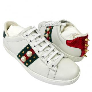 Gucci Pearl/Spike Sneakers