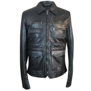 Dolce & Gabanna Leather Biker Jacket
