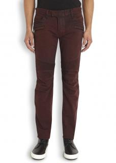 Balmain Slim-fit Cotton Denim Biker Jeans