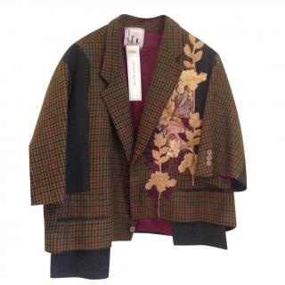 Antonio Marras appliqu� limited edition tweed  jacket