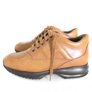 Hogan Interactive tan/brown sneakers